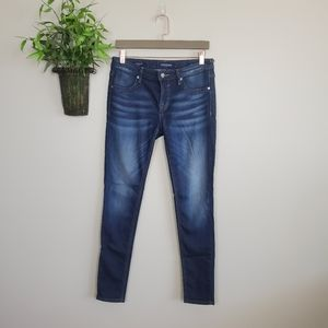 Vigoss Indigo Knit Skinny Jegging Dark Wash Jeans